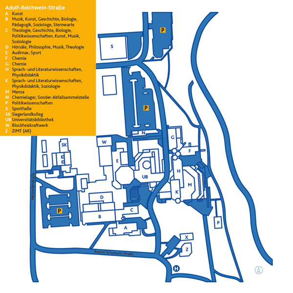 Lageplan Campus Adolf-Reichwein-Straße